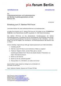 thumbnail of Einladung 21. Berliner PiA Forum