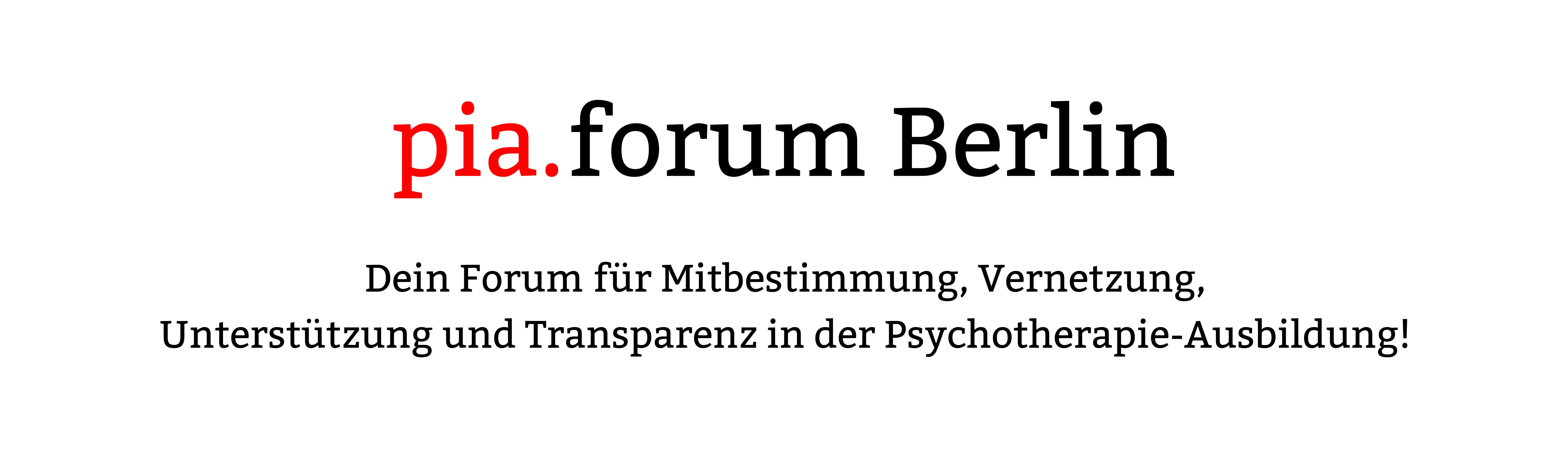 Berliner PiA-Forum